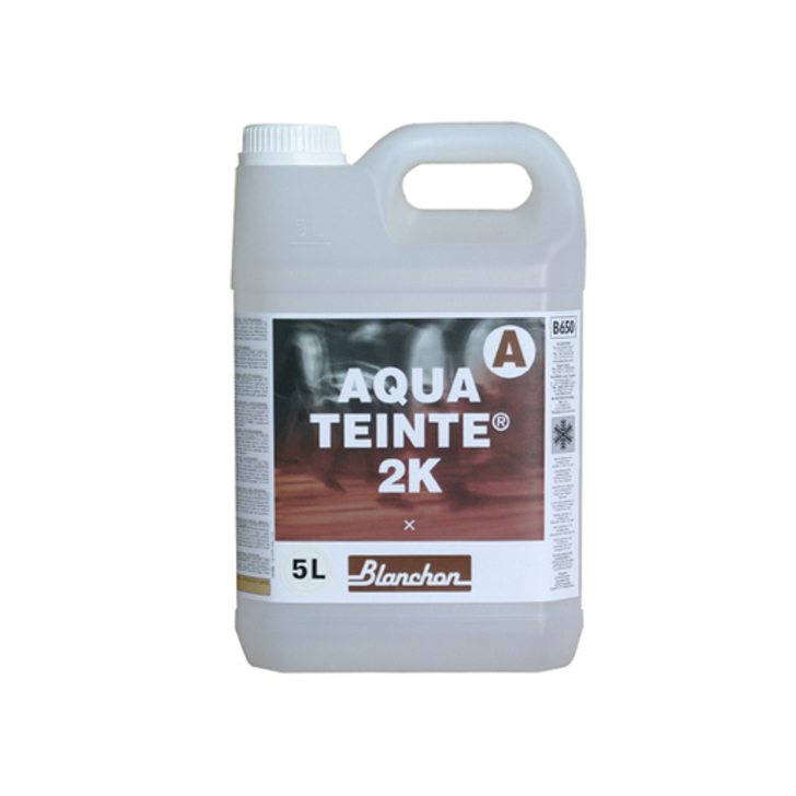 Blanchon Aquateinte 2K, PU Waterbased Stain, Soft Grey, 5L Image 1