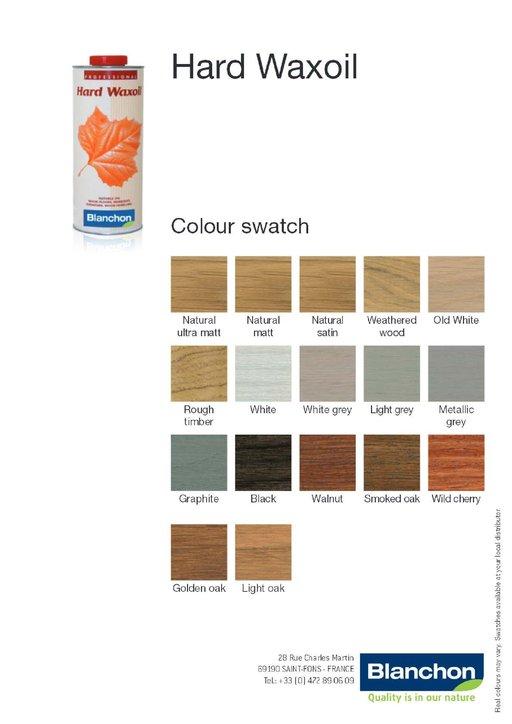 Blanchon Hardwax-Oil, Natural, 1 L Image 2