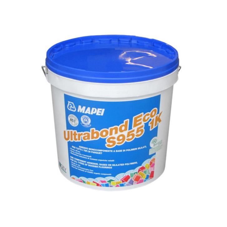 Mapei Ultrabond Eco S955, 1-Component Wood Floor Adhesive 15 kg Image 1