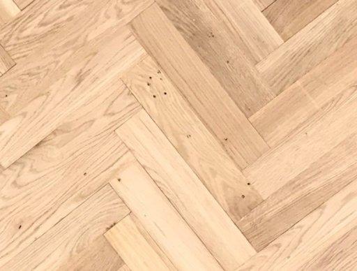 Tradition Classics Herringbone Engineered Oak Parquet Flooring, Unfinished, Rustic, 70x20.6x350 mm Image 1