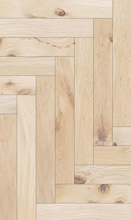 Tradition Classics Herringbone Engineered Oak Flooring, Rustic, Unfinished, 120x15x600 mm Image 1
