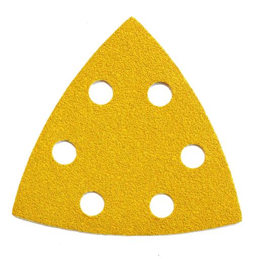Starcke 60G Sanding Triangles, 88 x 93 mm, 6 Holes Round, Velcro Image 1