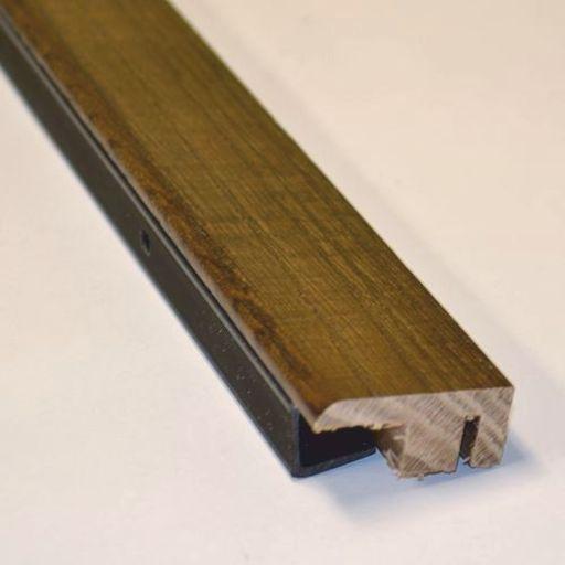 Solid Dark Oak End Profile Threshold, Lacquered, 90 cm Image 1
