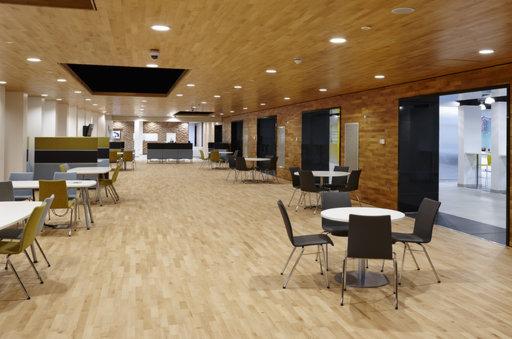 Junckers Beech Solid 2-Strip Wood Flooring, Silk Matt Lacquered, Harmony, 129x14 mm Image 3