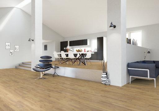 Junckers Solid Nordic Oak 2-Strip Flooring, Matt Lacquer, Harmony, 129x22 mm Image 1