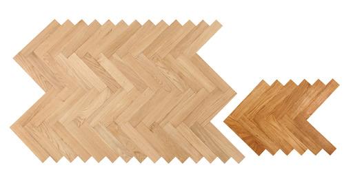 Kersaint Cobb Cathedral Solid Oak Parquet Flooring, Unfinished, Prime, 10x50x250 mm Image 1