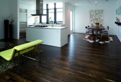 Junckers Solid Black Oak 2-Strip Flooring, Ultra Matt Lacquered, Harmony, 129x14 mm Image 1