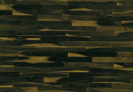 Junckers Solid Black Oak 2-Strip Flooring, Ultra Matt Lacquered, Variation 129x14 mm Image 1
