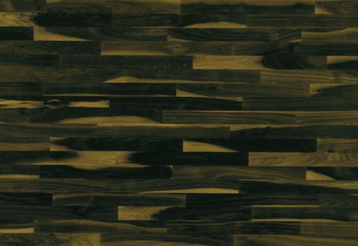 Junckers Solid Black Oak 2-Strip Flooring, Ultra Matt Lacquered, Variation, 129x22 mm Image 3