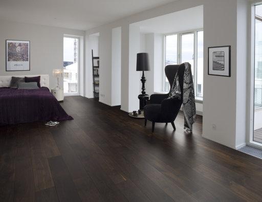 Junckers Black Oak Solid Wood Flooring, Untreated, Harmony, 140x20.5 mm Image 1