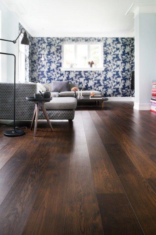 Junckers Black Oak Solid Wood Flooring, Untreated, Harmony, 140x20.5 mm Image 2