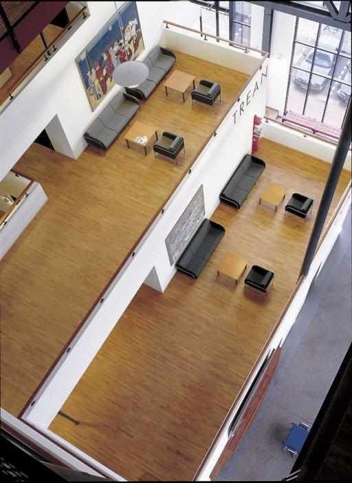 Junckers Beech SylvaKet Solid 2-Strip Wood Flooring, Silk Matt Lacquered, Variation, 129x14 mm Image 1