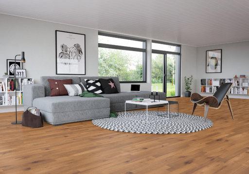 Junckers Beech SylvaKet Solid 2-Strip Flooring, Silk Matt Lacqured, Variation, 129x22 mm Image 1