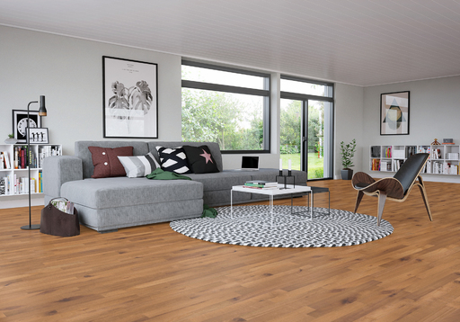 Junckers Beech SylvaKet Solid 2-Strip Flooring, Ultra Matt Lacquered, Variation, 129x22 mm Image 3