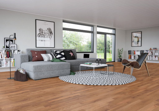 Junckers Beech SylvaRed Solid 2-Strip Wood Flooring, Oiled, Harmony, 129x14 mm Image 4
