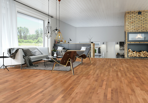 Junckers Beech SylvaRed Solid 2-Strip Wood Flooring, Untreated, Harmony, 129x22 mm Image 2