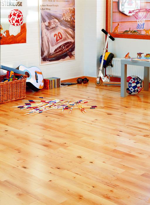 Junckers Beech Solid 2-Strip Wood Flooring, Untreated, Variation, 129x22 mm Image 3
