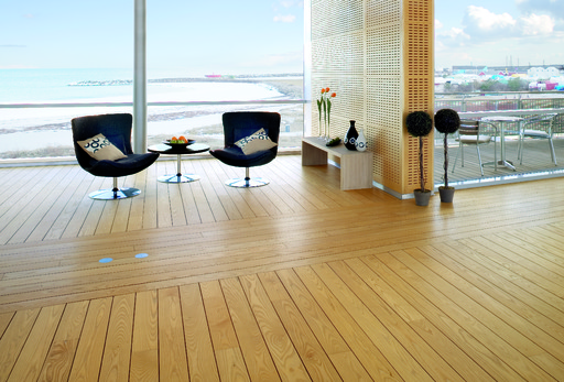 Junckers Light Ash Solid Wood Flooring, Untreated, Classic, 140x20.5 mm Image 1