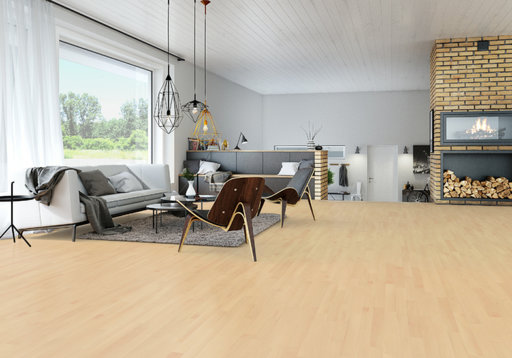Junckers Nordic Beech Solid 2-Strip Wood Flooring, Ultra Matt Lacquered, Classic, 129x14 mm Image 1