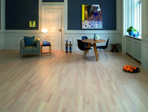 Junckers Nordic Beech Solid 2-Strip Wood Flooring, Ultra Matt Lacquered, Classic, 129x22 mm Image 3