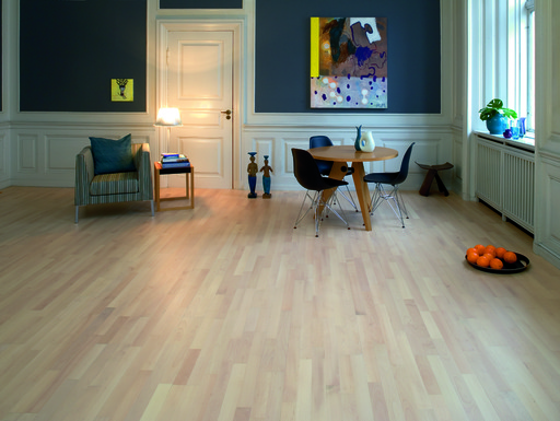 Junckers Nordic Beech Solid 2-Strip Wood Flooring, Ultra Matt Lacquered, Harmony, 129x14 mm Image 2