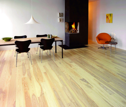 Junckers Nordic Dark Ash Solid Wood Flooring, Ultra Matt Lacquered, Classic, 140x20.5 mm Image 1