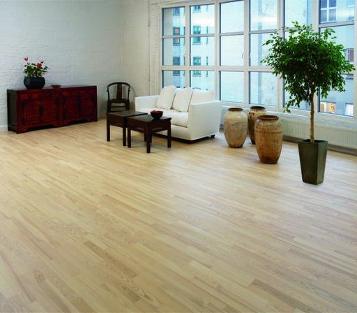 Junckers Nordic Light Ash 2-Strip Solid Wood Flooring, Ultra Matt Lacquered, Harmony, 129x14 mm Image 2
