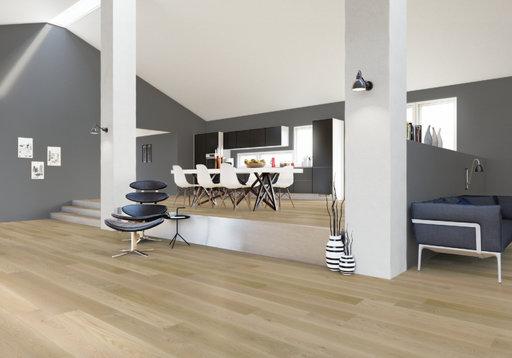 Junckers Nordic Oak Boulevard Solid Wood Flooring, Ultra Matt Lacquered, Harmony, 1-Strip, 185x20.5 mm Image 1