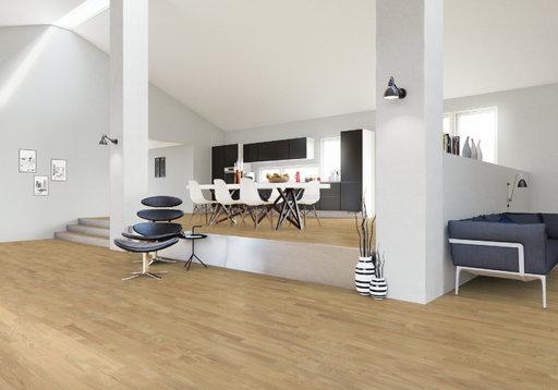 Junckers Solid Nordic Oak 2-Strip Flooring, Ultra Matt Lacquered, Classic, 129x22 mm Image 2