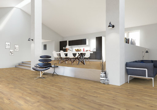 Junckers Solid Nordic Oak 2-Strip Flooring, Ultra Matt Lacquered, Variation, 129x14 mm Image 2