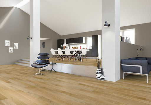 Junckers Nordic Oak Solid Wood Flooring, Ultra Matt Lacquered, Classic, 1-Strip, 140x20.5 mm Image 2