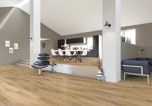 Junckers Nordic Oak Solid Wood Flooring, Ultra Matt Lacquered, Harmony, 1-Strip, 140x20.5 mm Image 2