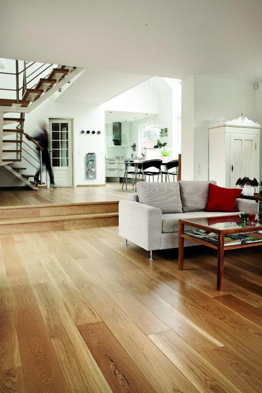 Junckers Solid Oak Boulevard Wood Flooring, Untreated, Harmony, 185x20.5 mm Image 3