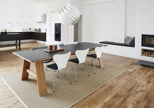 Junckers Solid Oak 2-Strip Flooring, Untreated, Classic, 129x22 mm Image 1
