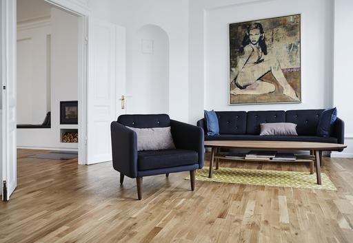 Junckers Solid Oak 2-Strip Flooring, Untreated, Classic, 129x22 mm Image 2