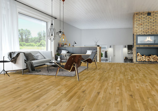 Junckers Solid Oak 2-Strip Flooring, Ultra Matt Lacquered, Harmony, 129x14 mm Image 4