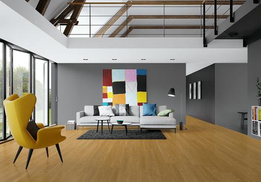 Junckers Solid Oak Flooring, Silk Matt Lacquered, Classic, 140x20.5 mm Image 1