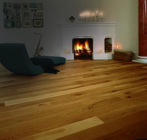 Junckers Solid Oak Wood Flooring, Silk Matt Lacquered, Variation, 140x20.5 mm Image 2