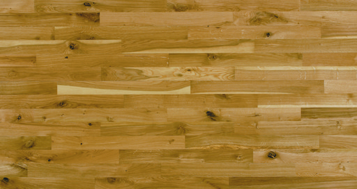 Junckers Solid Oak 2-Strip Flooring, Silk Matt Lacquered, Variation, 129x22 mm Image 1