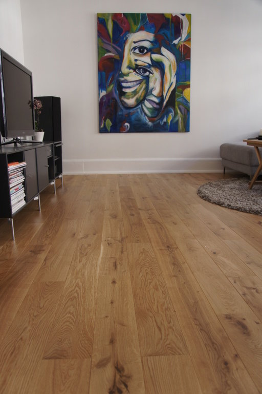 Junckers Solid Oak Wood Flooring, Untreated, Variation, 140x20.5 mm Image 1