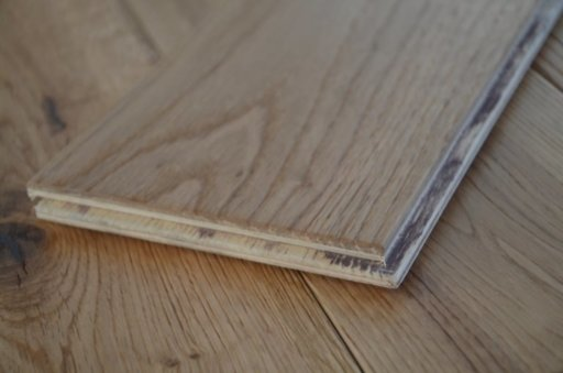 Tradition Engineered Oak Flooring, Natural, Brushed, Lacquered, 125x3x14 mm Image 2