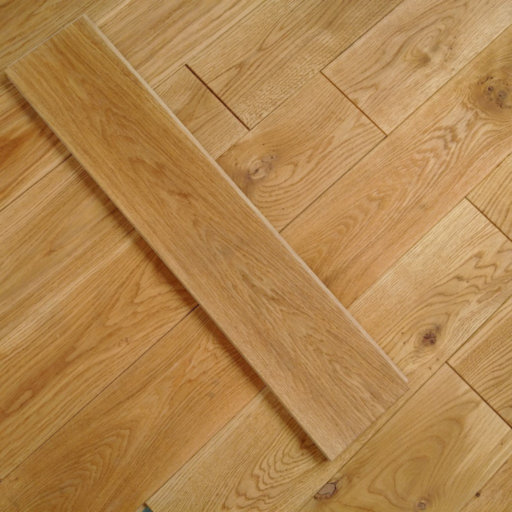 Tradition Solid Natural Oak Flooring, Rustic, Brushed, Oiled, 20x140 mm Image 1