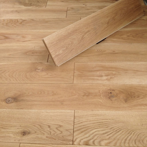 Tradition Solid Natural Oak Flooring, Rustic, Brushed, Oiled, 20x140 mm Image 2