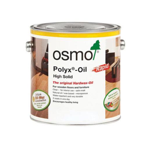 Osmo Polyx-Oil Hardwax-Oil, Rapid, Satin Finish, 2.5L Image 1