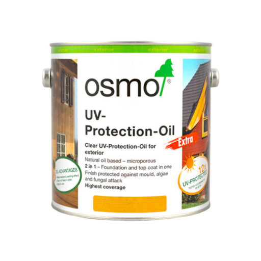 Osmo UV-Protection Oil Clear Extra With Active Ingredients, 2.5L Image 1