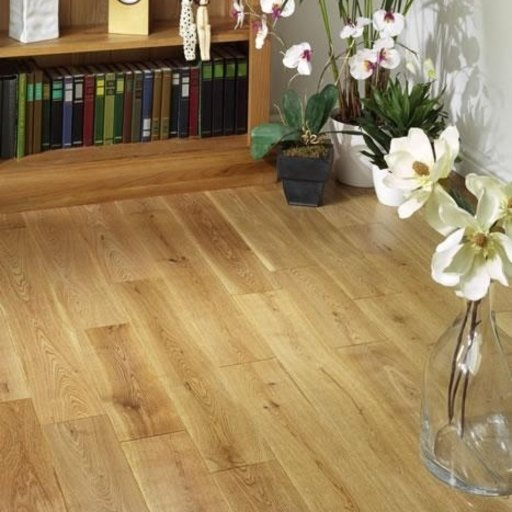 Tradition Solid Oak Flooring, Rustic, Lacquered, 125x18 mm Image 1