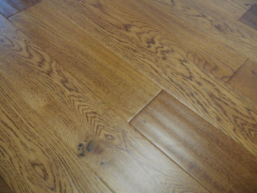 Tradition Engineered Golden Oak Flooring, Handscraped, Rustic, Lacquered, 18x125xRL mm Image 1
