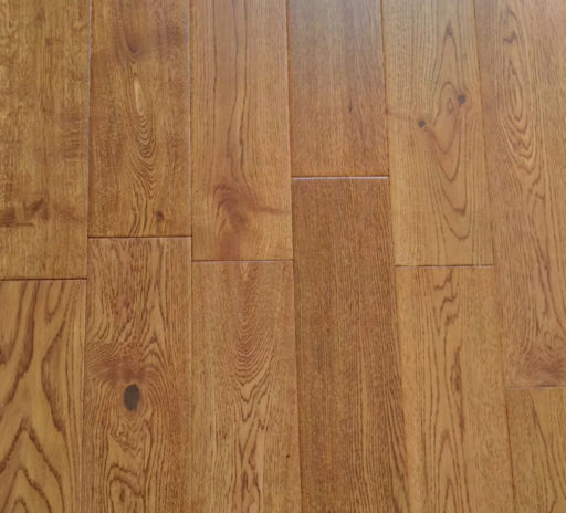 Tradition Engineered Golden Oak Flooring, Handscraped, Rustic, Lacquered, 18x125xRL mm Image 3