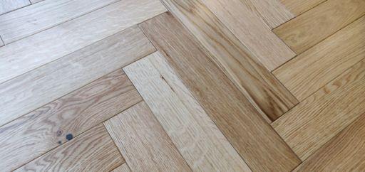 Tradition Engineered Oak Parquet Flooring, Herringbone, Lacquered, 90x14x450 mm Image 1