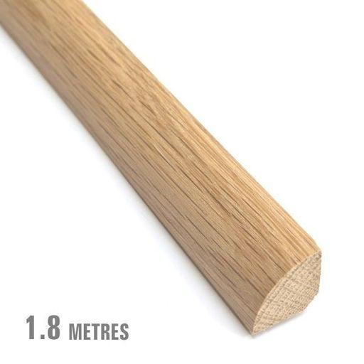 Unfinished Solid Oak Quadrant Beading, 19x19 mm, 1.8 m Image 1